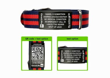 China Engraved Sport ID Bracelet Customized Nato Strap ID Bracelets For Men supplier