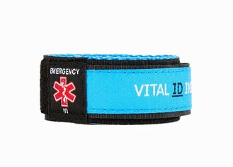 China Unisex Custom Vital ID Wristband / Children My ID Bracelet RoHs Approved supplier