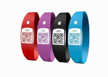 China Latex Free Custom Silicone Bracelets / SOS Medical ID Bracelet With Unique QR Code distributor