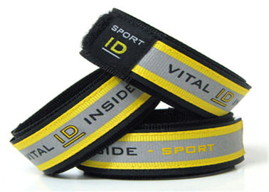 China Reflective Sport ID Bracelet / Vital ID Wristband With Insert ID Paper distributor