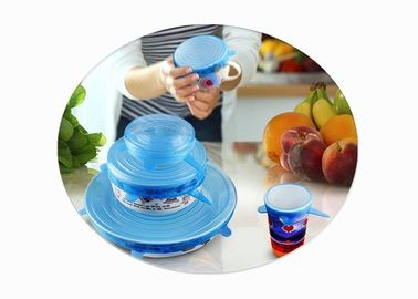 China Stretchable Silicone Food Covers , Silicone Lid Covers For Bowls / Pots / Cups distributor