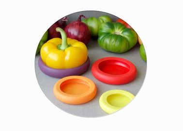 China Eco Friendly Silicone Fresh Cover Round Shape Silicone Fruit Covers With Logo Customized factory