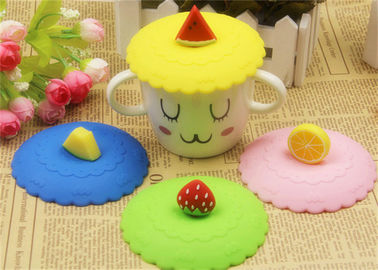 China Food Grade Silicone Fresh Cover / Silicone Cup Cover Round Shape Diameter 10.5cm distributor