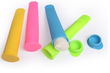 China DIY Fun Silicone Popsicle Molds , Food Grade Silicone Lollipop Molds With Lid factory