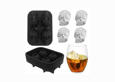 China Personality Creative Silicone Ice Trays Easy Clean DIY Skull Ice Cube Tray factory