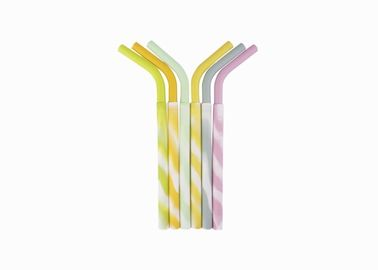 China Customized Silicone Reusable Drinking Straws BPA Free Soft Silicone Straws distributor