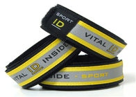 Reflective Sport ID Bracelet / Vital ID Wristband With Insert ID Paper