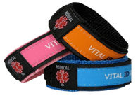 Adjustable Nylon Vital ID Bracelet Color Customized With Waterproof ID Tag