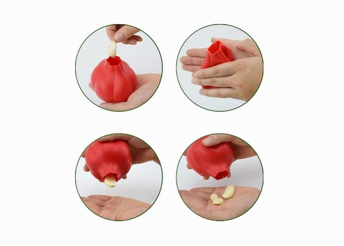 Fashion Silicone Kitchen Gadgets Garlic Shaped Silicone Garlic Peeler For Kitchen Tool
